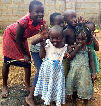 The beautiful, friendly faces of the Ugandan children.