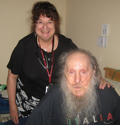 Sara Kauffman, ANP with her patient Robert Ray