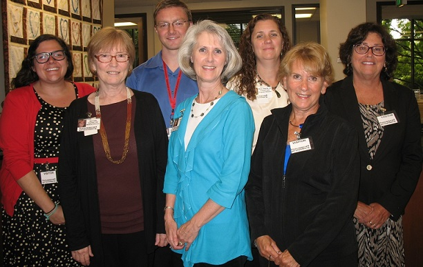 Representatives from CMS and RTI visited Housecall Providers last month to learn more about our model of care. (lt to rt) Ashley Malpass, RTI, Dr. Benneth Husted, Medical Director, Thomas Kirk, QAPI Specialist, Terri Hobbs, Executive Director, Mary Sayre, Primary Care Program Director, Linda Colantino, Team Lead IAH, and Judy Abbate, RTI.
