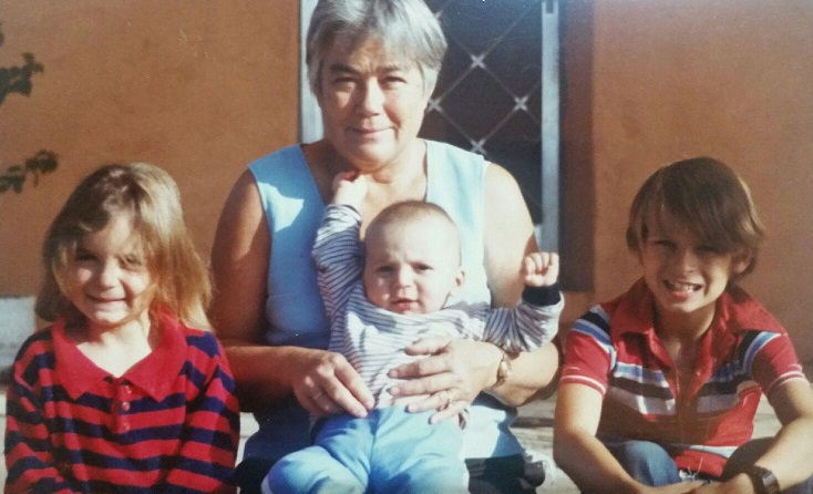 Bea with her grandchildren. Billy is on the  far right